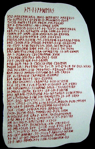 The Invaders – poem in Runic